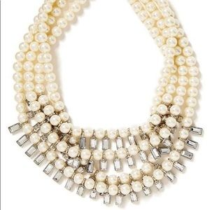 BR Multi-strand pearl & crystal necklace